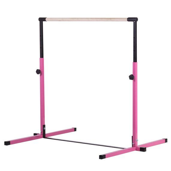 59c766133cbc Pink - Purple - Little Gym Deluxe Equipment Set - Gymnastics Bar, Adjustable  Balance Beam, 8ft Gymna