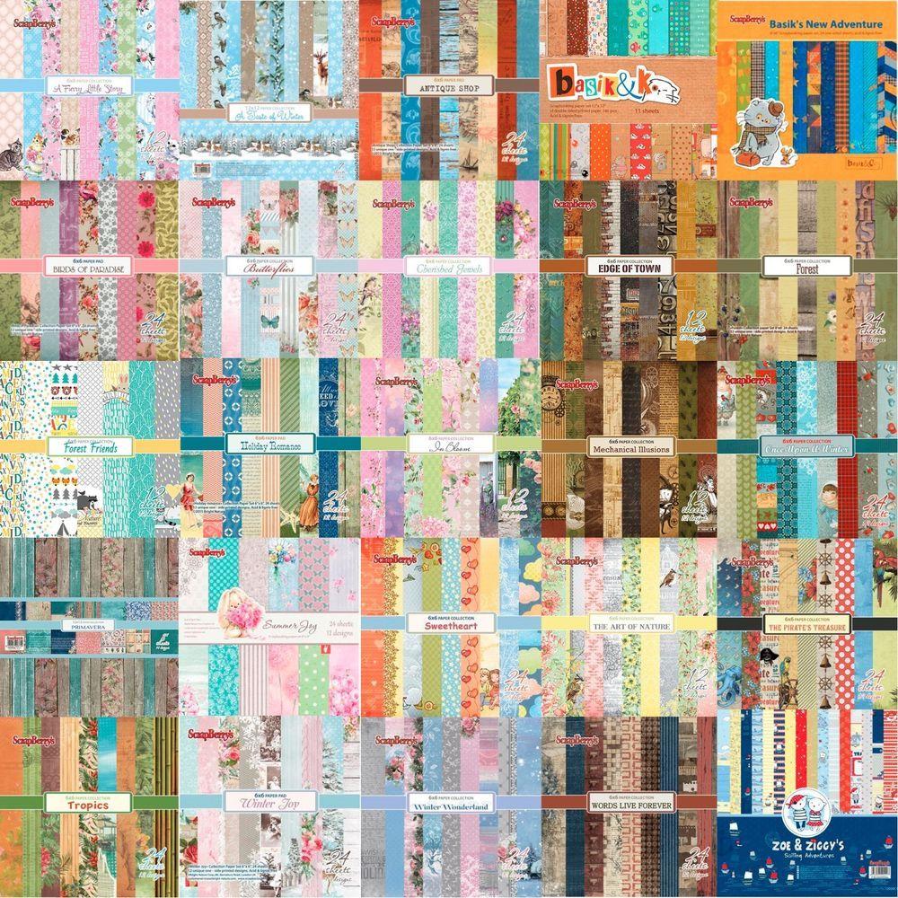 Bastel Scrapbooking Motive Papier 6 X 6 Inch 15 X 15 Cm