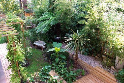 Vue depuis le balcon du jardin exotique, réalisation Pierre ...