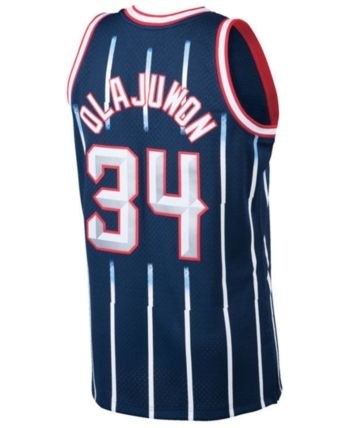 36522209c Mitchell   Ness Men s Hakeem Olajuwon Houston Rockets Hardwood Classic  Swingman Jersey - Blue XXL