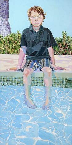 Aidan, by Elizabeth Chapin, love this one, reminds me of one of David Hockney's pool paintings. Beautiful pool detail.