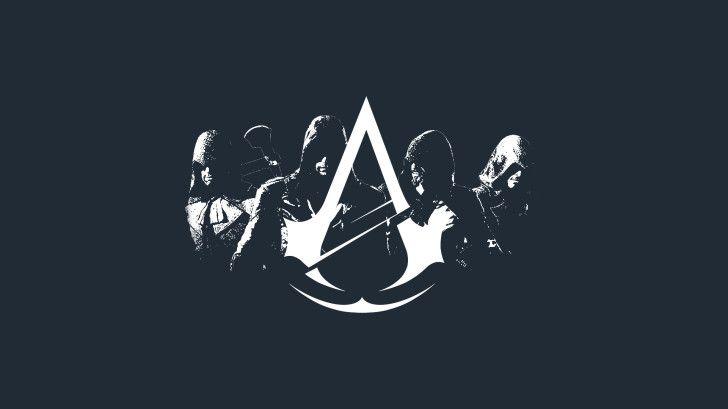 Assassins Creed Unity Logo Minimalist Wallpaper Littledesignz Hd 1920 1080 Assassin S Creed Wallpaper Assassins Creed Unity Logo