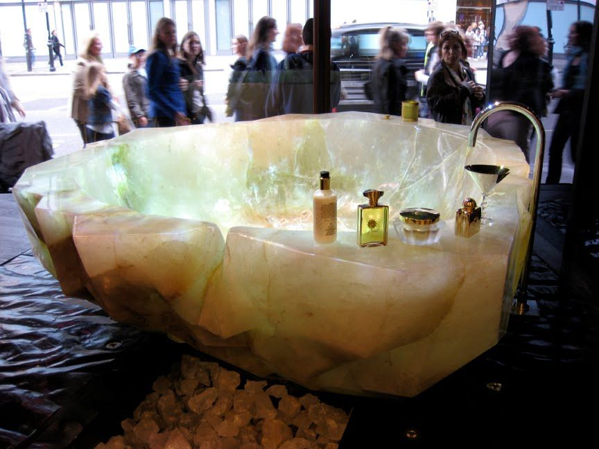 This Crystal Bathtub Is Carved From A Single Block Of The Purest