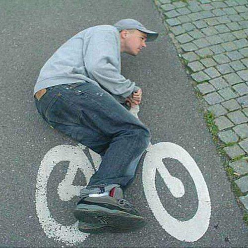 Asphalt-Fahrrad