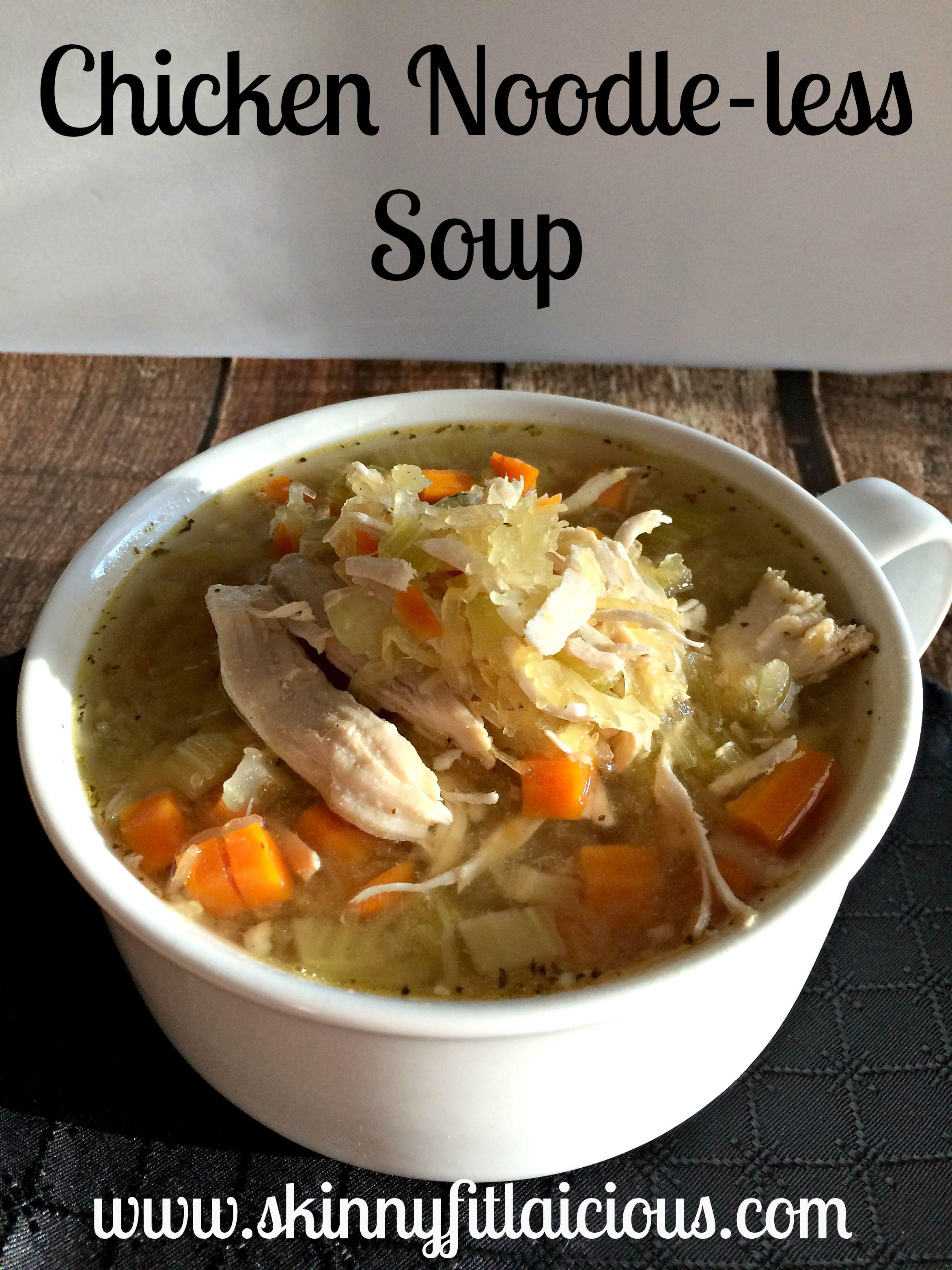 Chicken Noodle Less Soup