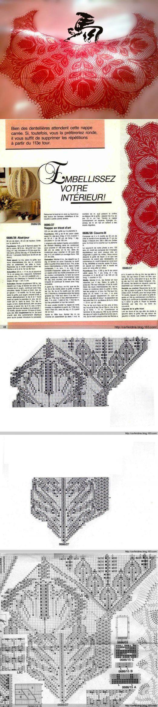 схема для вязания шаль харуни