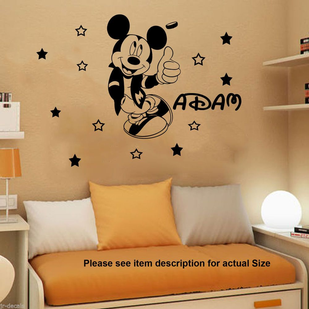 Details About Disney Mickey Mouse Bedroom Kids Vinyl Decal Wall - Custom vinyl wall decals disney