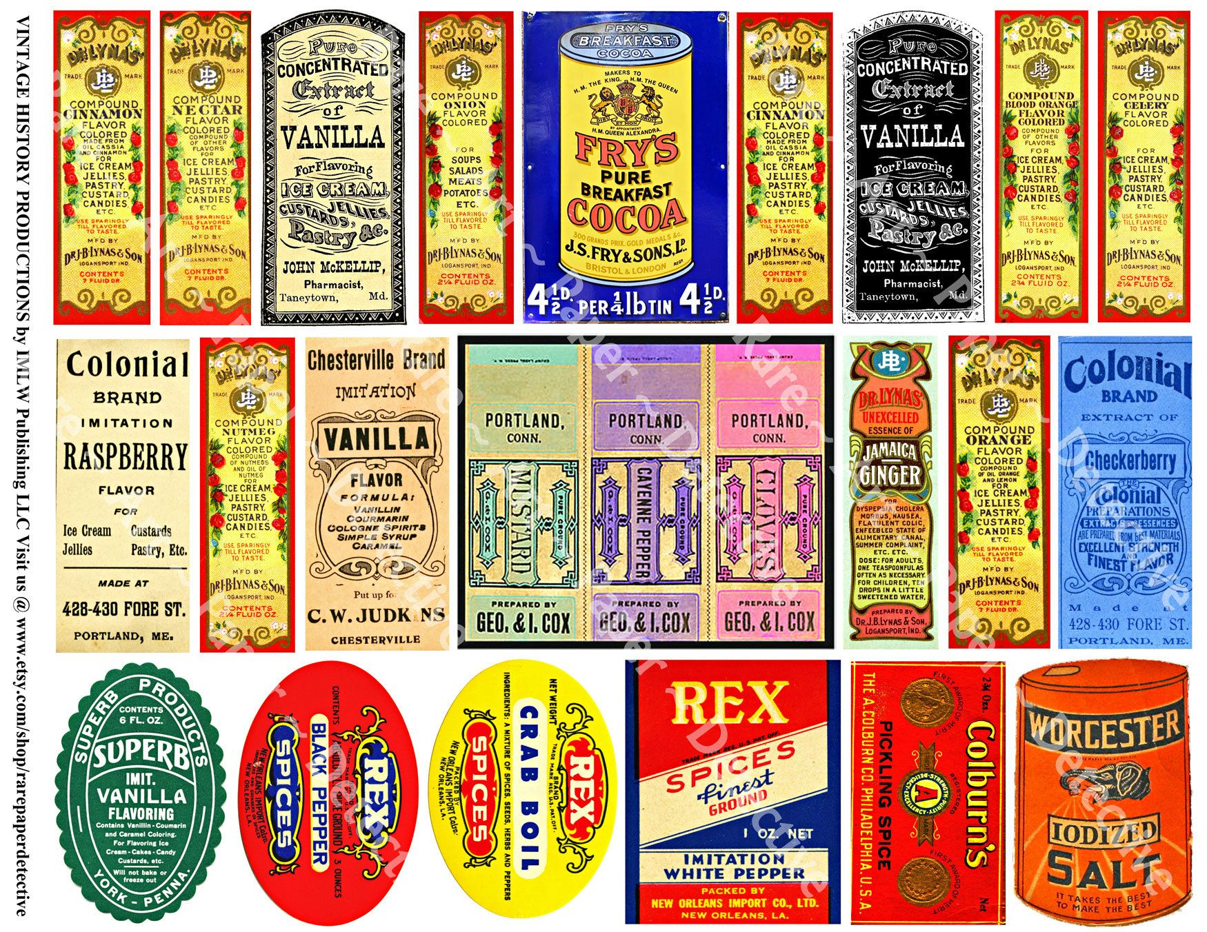 Kitchen Spice Labels, Rustic Country Kitchen Decal Sticker for Spice ...