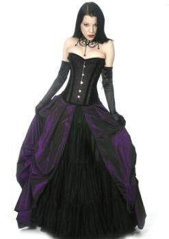 The sort of dress every young goth girl should have. I love the ...