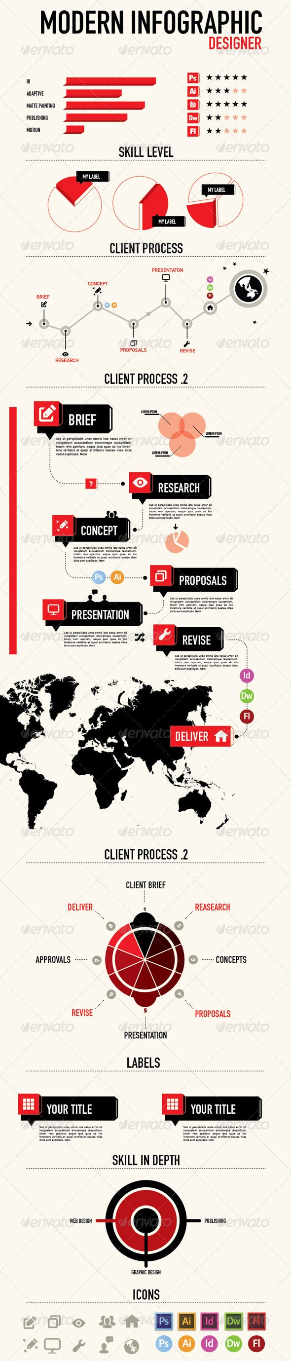 Process Flow Chart Template Infographic For Designer  Infographics Infographic And Flow