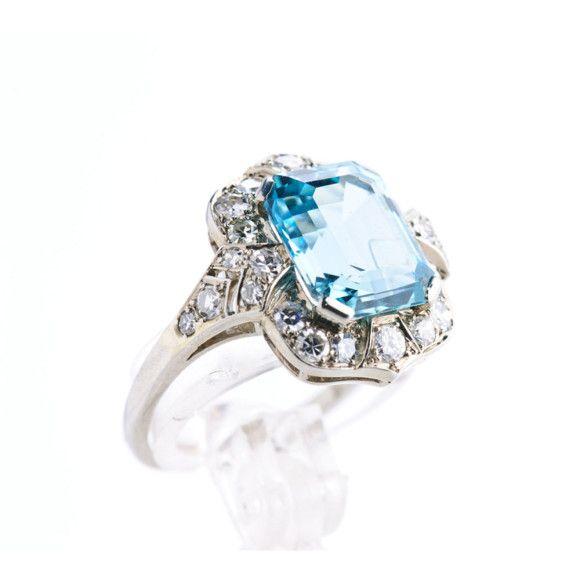 Emerald mix cut sea blue aquamarine DUBSCR053 #engagement#wedding#dressjewellery#jewellery#jewelry#need#want#ring @bismijewels
