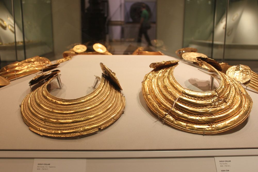 Gold Collars. 800-700 BC. National Museum of Ireland.