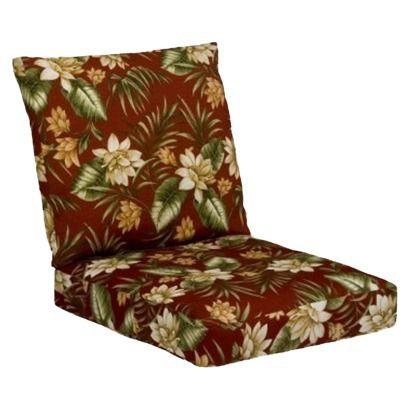 Tropiji Outdoor Conversation Deep Seating Cushion Set Red Green Fl