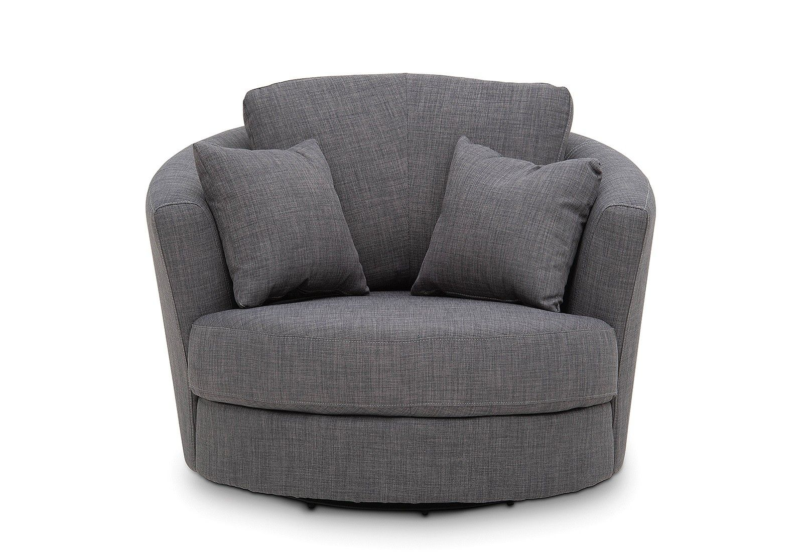 Omaha Fabric Swivel Chair | Amart Furniture | Chair ...