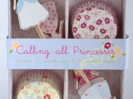 Princess cupcake kits includes 24 cupcake cases and 24 toppers. Available from www.lovetheoccasion.com.au