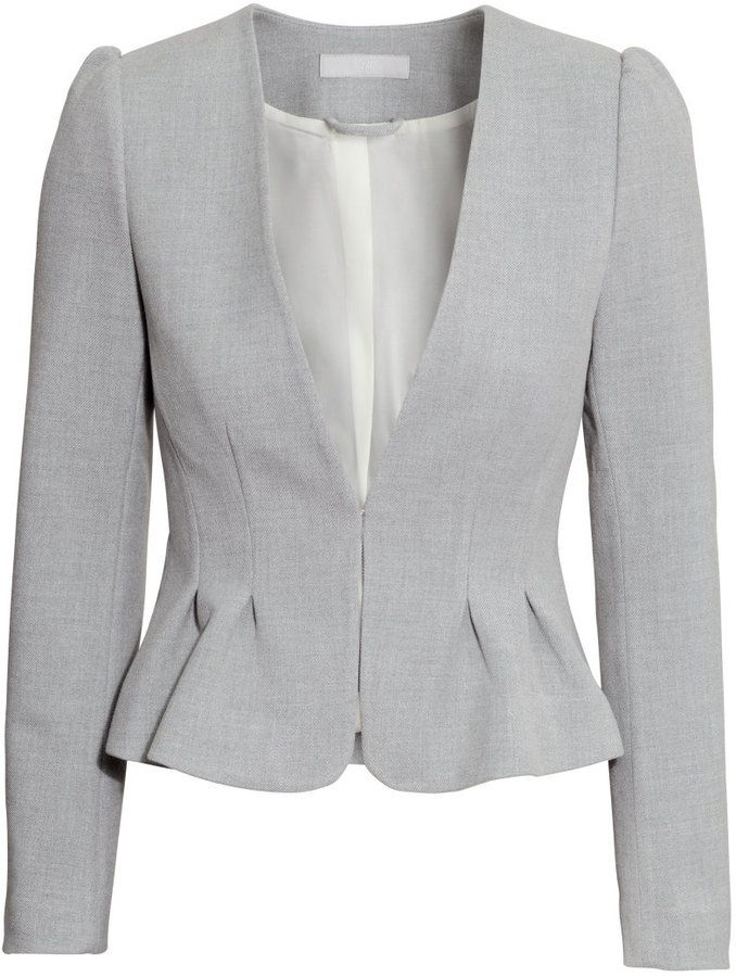 Oh this jacket is so Olivia Pope H M - Fitted Jacket - Gray melange - Ladies 1fb7a252d2