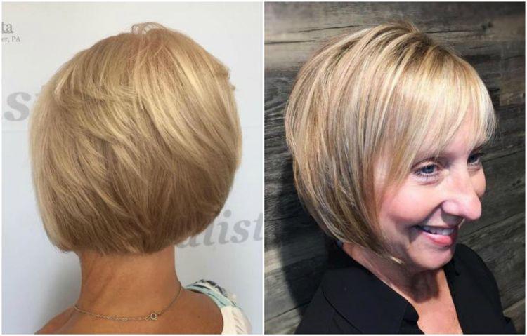 Frisuren Für Frauen Ab 50 Mit Dünnem Haar Bob Gestuft Aschblond