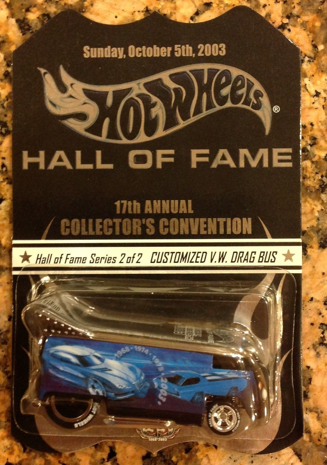 2003 Hot Wheels Hall OF Fame 17th Convention VW Drag Bus