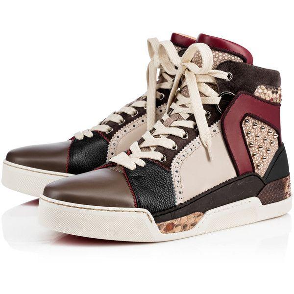 Loubikick Flat Version Multi Python - Men Shoes - Christian Louboutin  ($1,695) ❤ liked