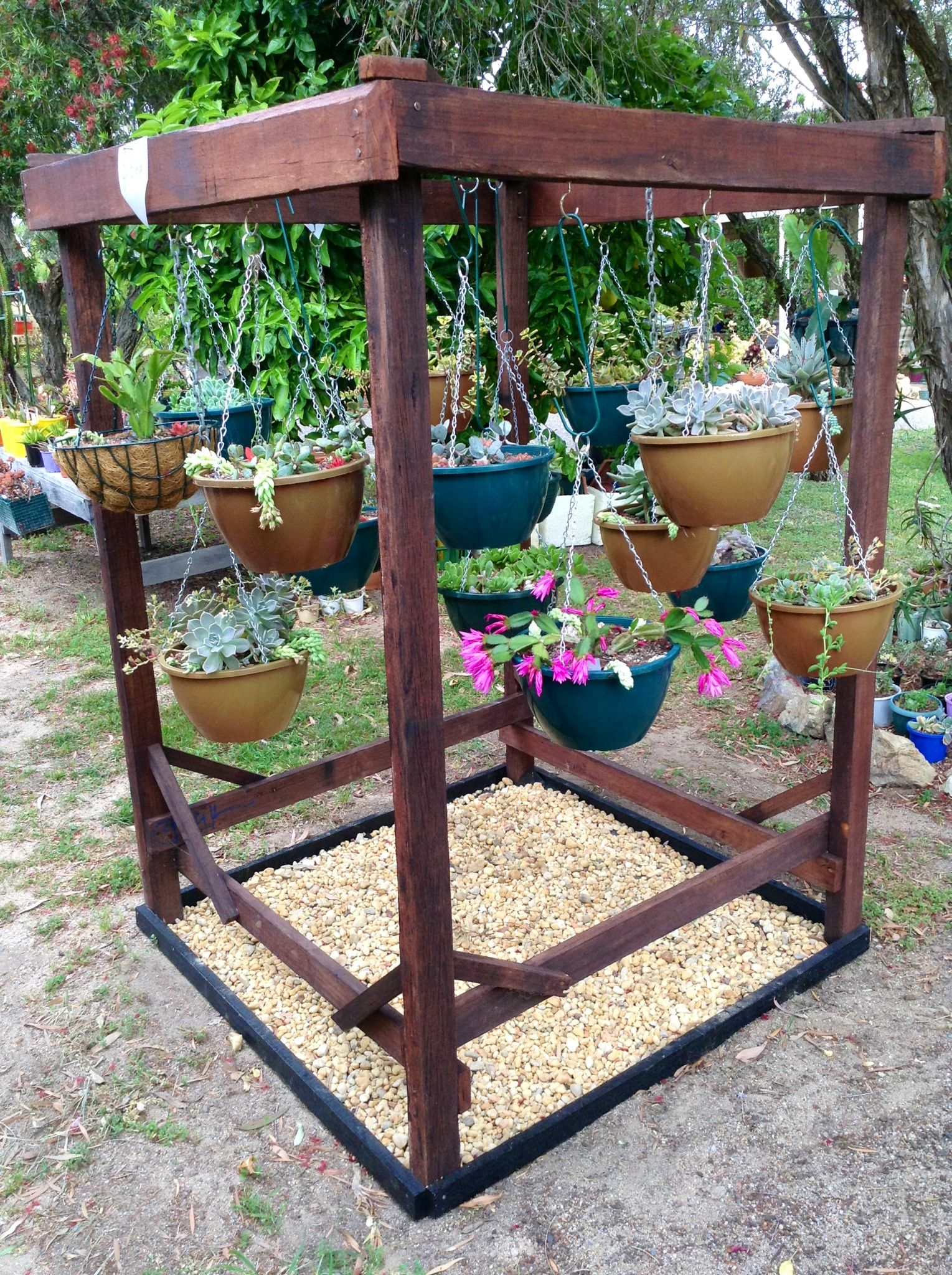 Hanging Basket Stand. … | Hanging basket stand, Garden ... on Stand For Hanging Plants  id=36549