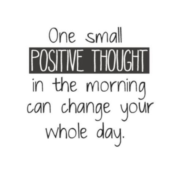 It only takes one small thought