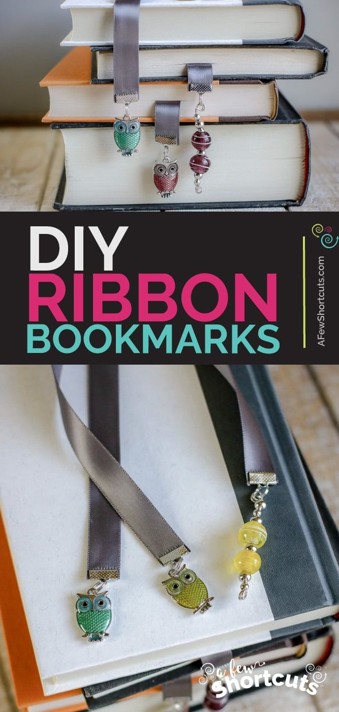 DIY Ribbon Bookmarks with Charms