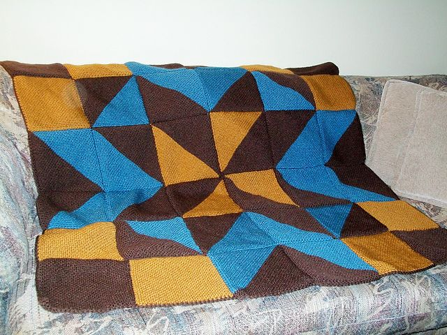 Nine Patch Star Blanket Pattern By Kristi Paul Knit