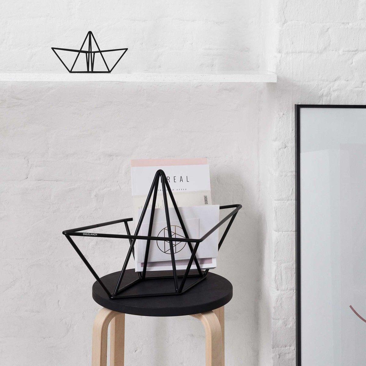 Snug Ahoy In Small Und Large Von Snug Studio Dekor Origami Mobel Zeitschriftenhalter