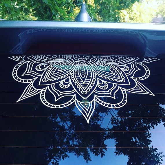 Half Mandala Window Decals Car Decals Wall Decal Vinyl Decal - Office depot window decals instructions