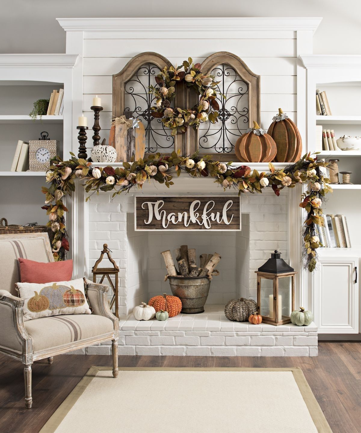Fall living room home decor idea | Interior design inspo in ...