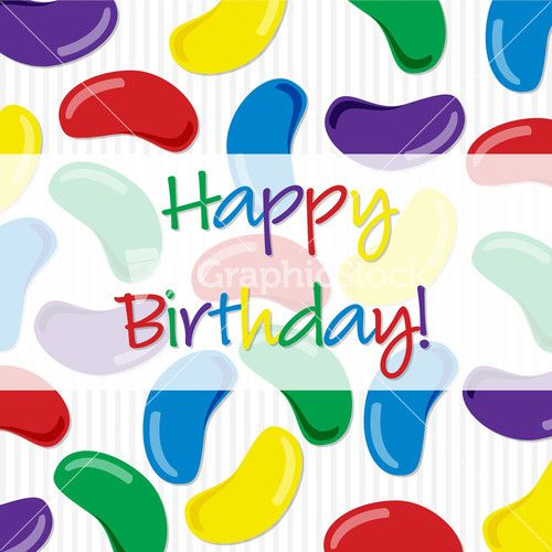 Jelly Bean Happy Birthday Card In Vector Format Humor - birthday cards format