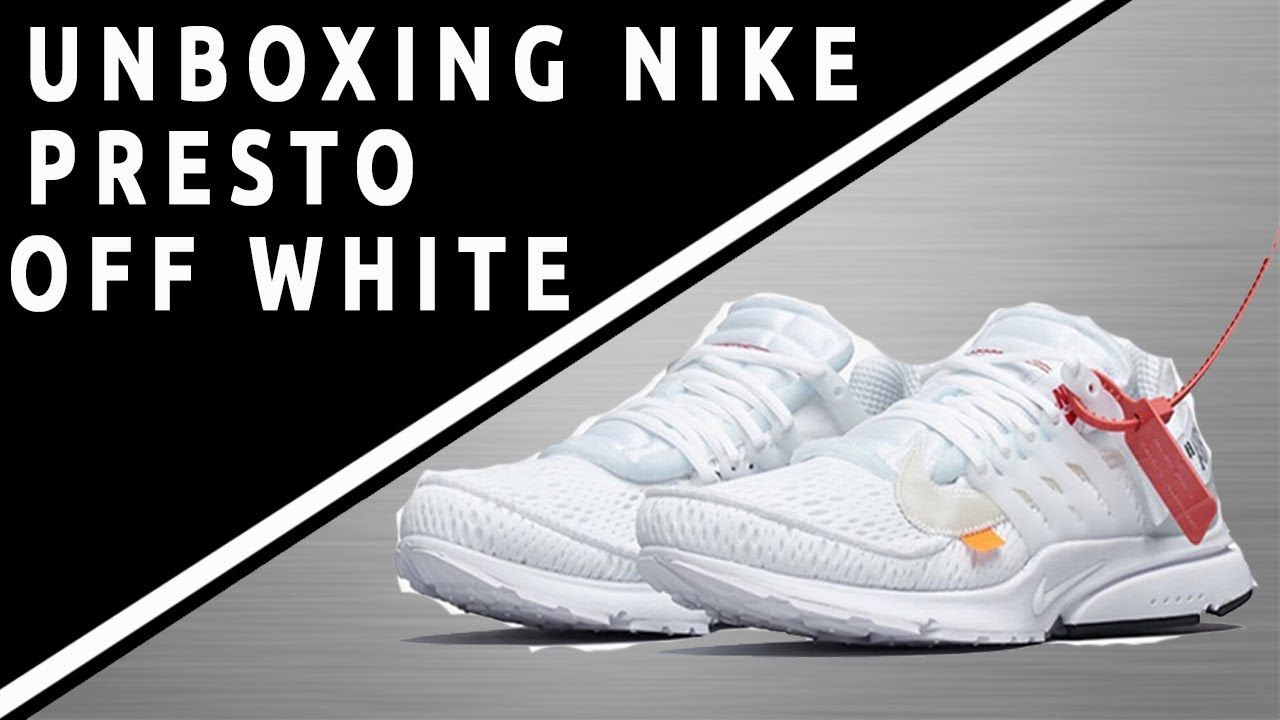 4dfb2f29f826 Running Shoes Nike · UNBOXING Déballage de Nike Presto OFF-White Blanche (  Kicksnuts ) ...