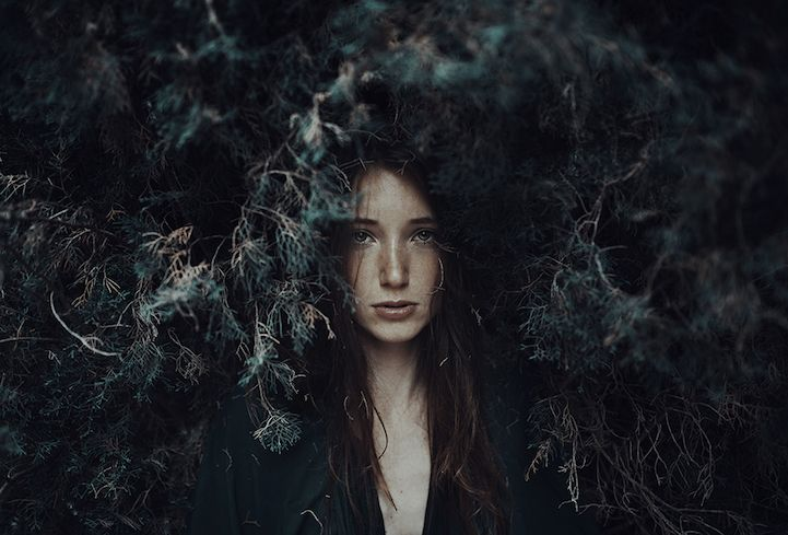 Interview Alessio Albi S Evocative Portraits Blend The Natural Beauty Of Women With Nature Portrait Photography Women Portrait Moody Photography