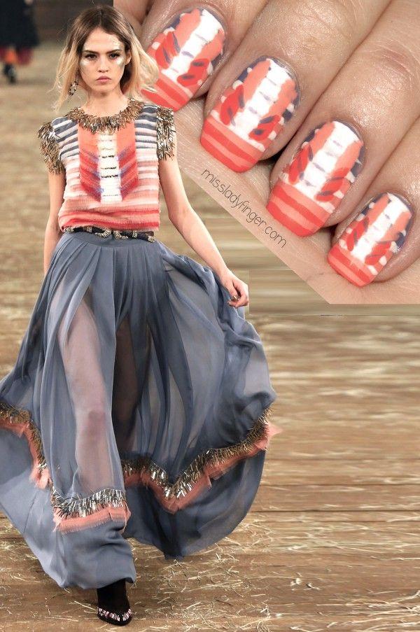 Chanel Pre-Fall '14 Dallas #nail #nails #nailart