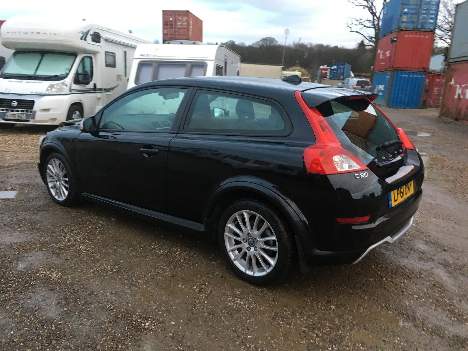 2012 volvo c30 coupe sel black mk1 facelift salvage damaged ...