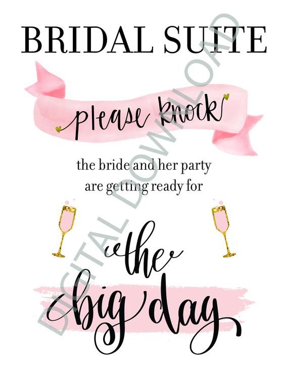 graphic about Please Knock Sign Printable titled Bridal Suite Signal for Marriage ceremony Working day Make sure you Knock Turning out to be Organized