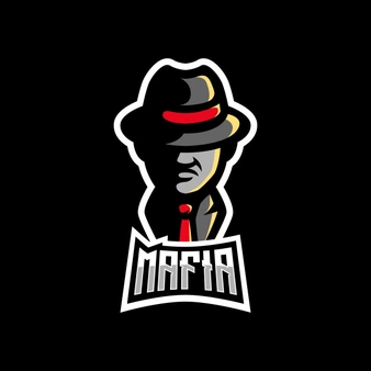 Mafia With Hat Suit Gaming Mascot Logo Ilustrasi Karakter Desain Logo Seni Manga