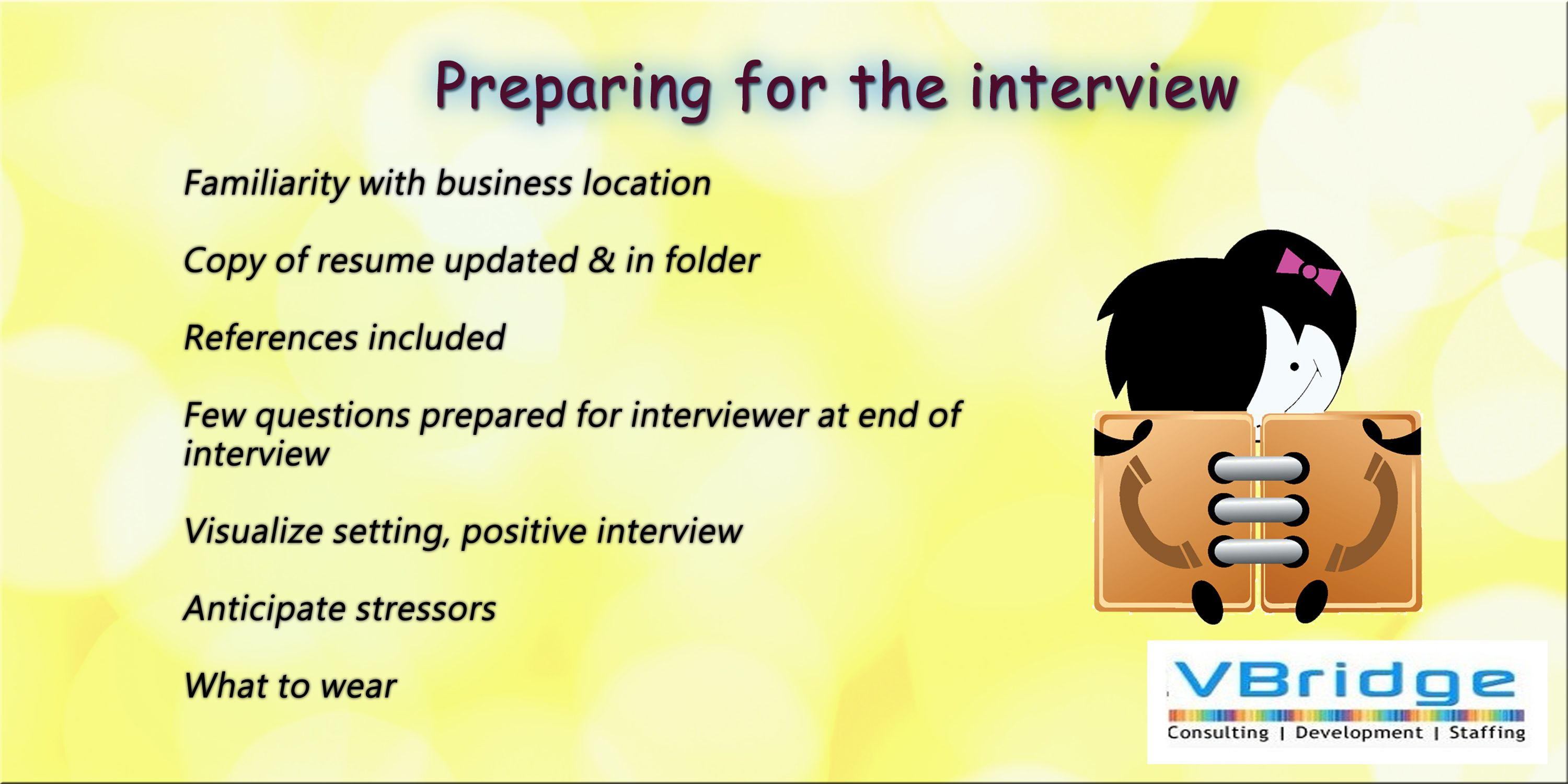 Copy A Resume Preparing For The Interview Familiarity With Business Location Copy .