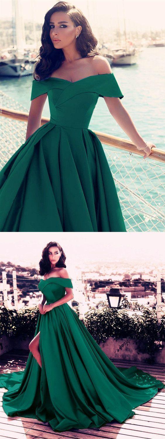 Emerald green prom dress  Emerald Green Prom DressesDark Green Prom DressesLong Evening