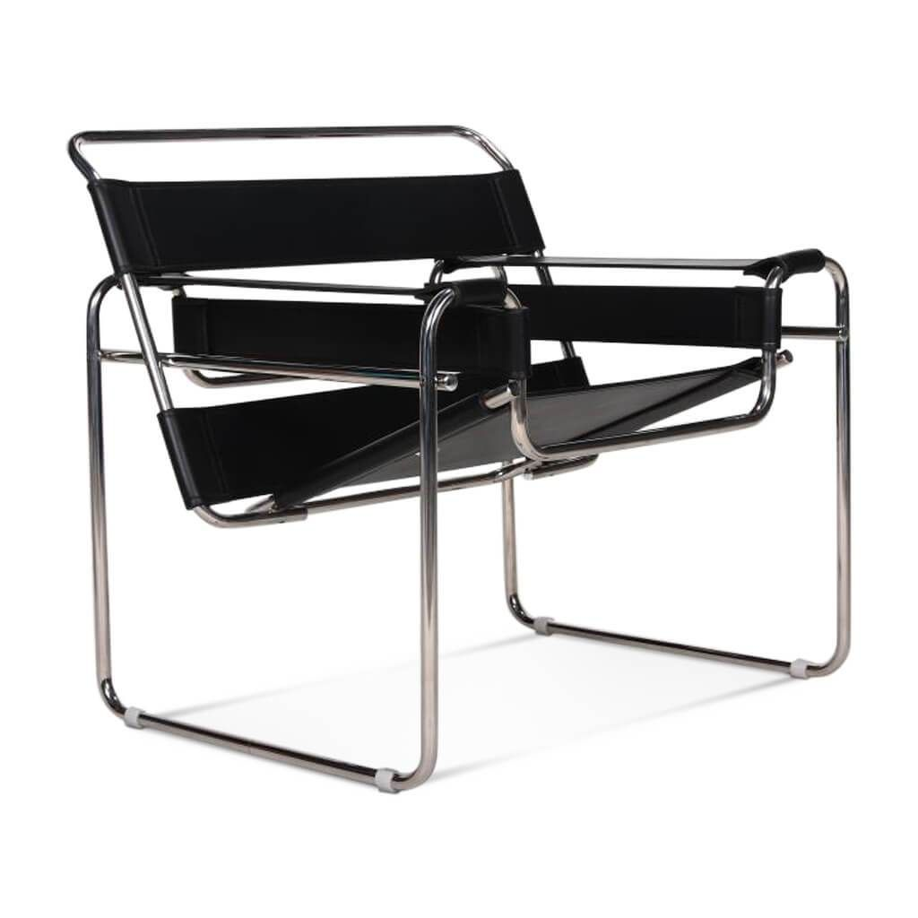 Wassily chair Cowhide Black White Wassily chair, Chair