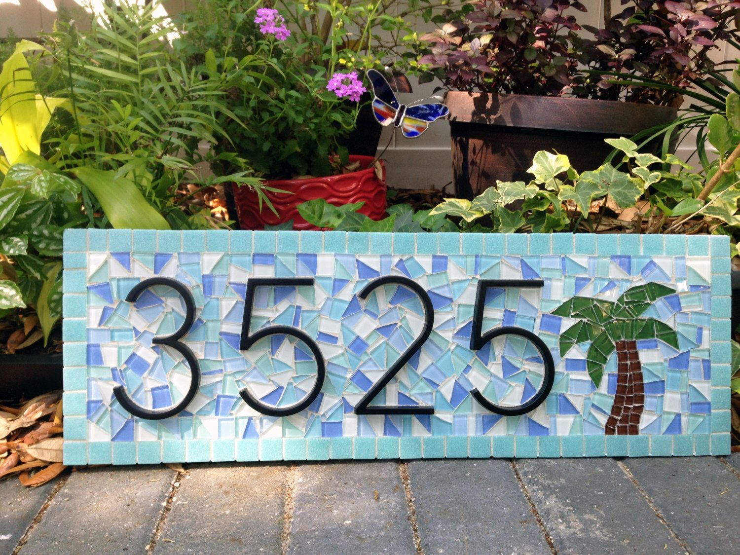 Best Kitchen Gallery: Beach House Address Sign House Number Plaque Palm Tree of Beach House Number Tiles on rachelxblog.com