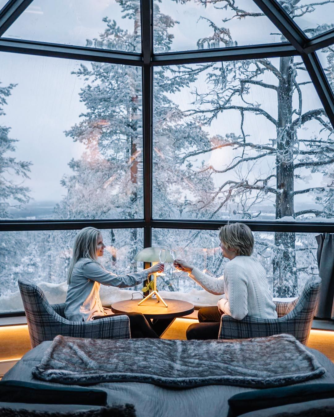Glass Igloos In Finland Provide