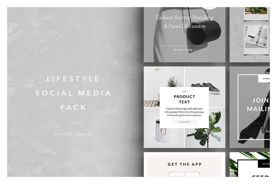 Lifestyle social media pack. Minimal social media. Social media ...