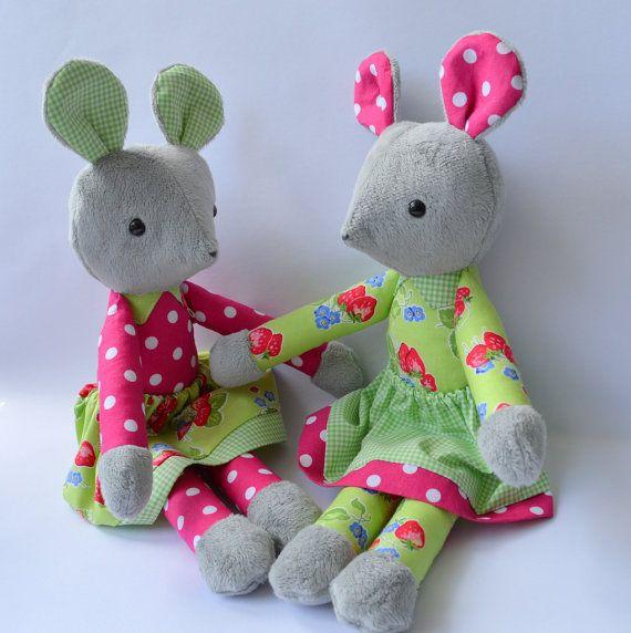 PDF sewing pattern mouse soft toy Stuffed doll Plushie | bebe ...