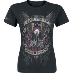 Photo of Five Finger Death Punch Eagle Color Damen-T-Shirt – schwarz – Offizielles Merchandise