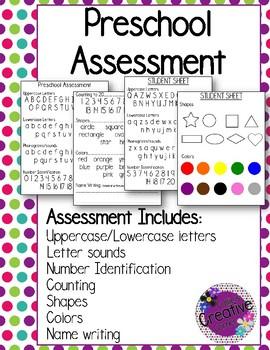 Preschool Assessment | Preschool assessment, Preschool ...
