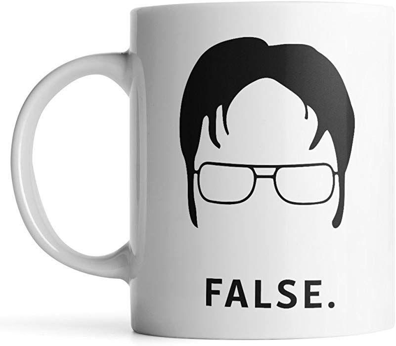 Amazon.com: Dwight Schrute False Funny Coffee Mug by ...