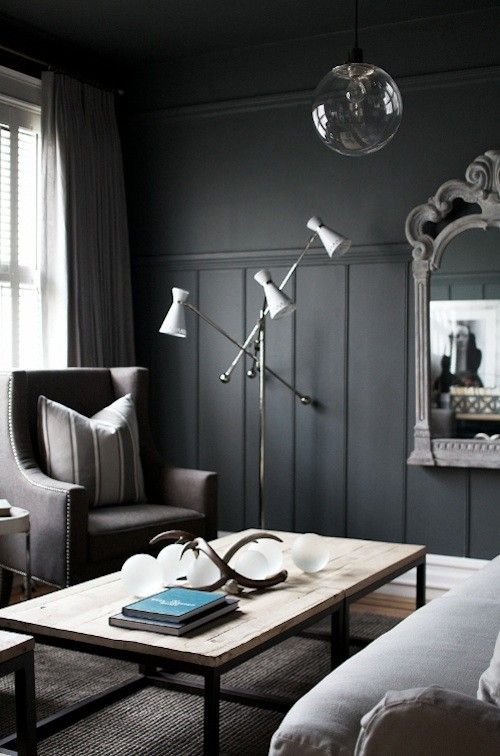 Charcoal Gray Paint >> Pin By Chloe Middleton On Bedroom House Design Dark Walls Grey Paint