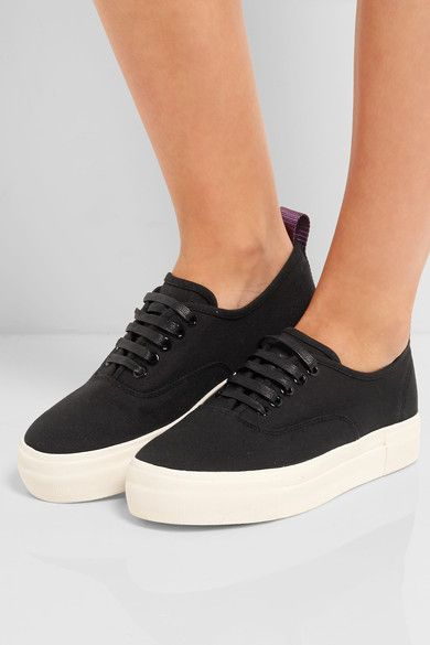 Eytys Pink Canvas Mother Sneakers