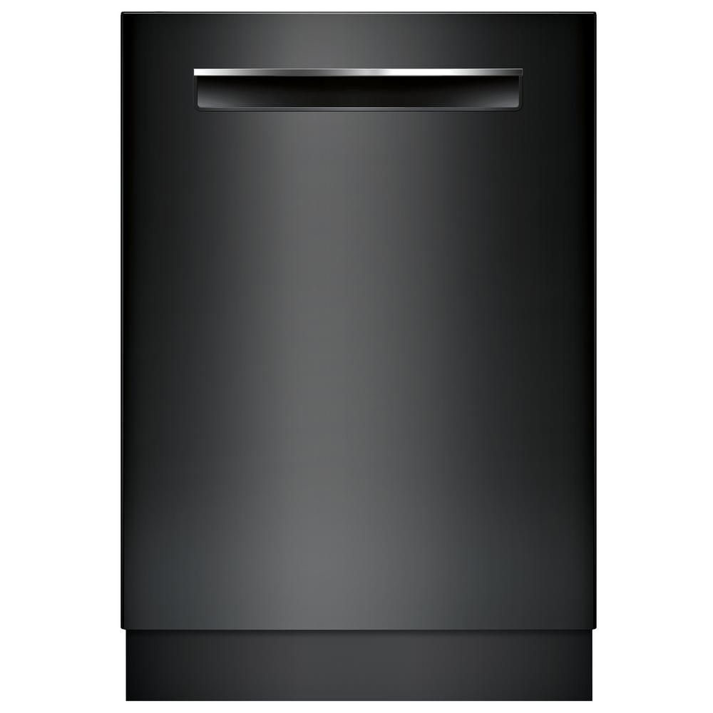 Bosch 500 Series Top Control Tall Tub Dishwasher In Black With Stainless Steel Tub And Easyglide Rack System 44dba Shpm65w56n The Home Depot Integrated Dishwasher Fully Integrated Dishwasher Built In Dishwasher